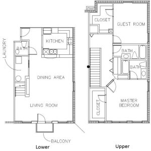 Condo Floor Plan A - Sponaugle Wellness Institute