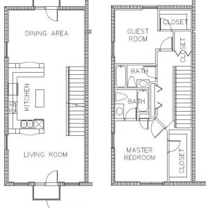 Condo Floor Plan B - Sponaugle Wellness Institute