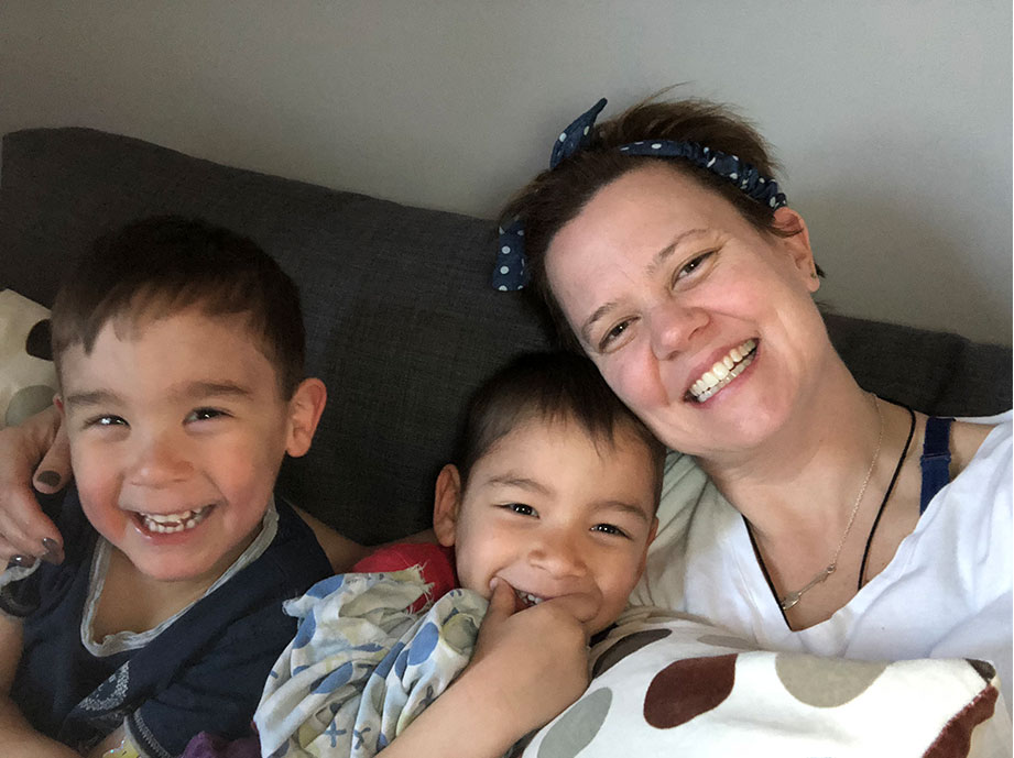 Canadian Mother of two, holds our record for highest Black Mold Toxicity, back home with family!